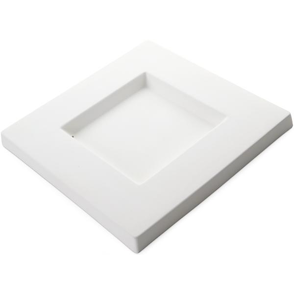 Square Platter – 24.5×24.5x2cm – Base: 12x12cm