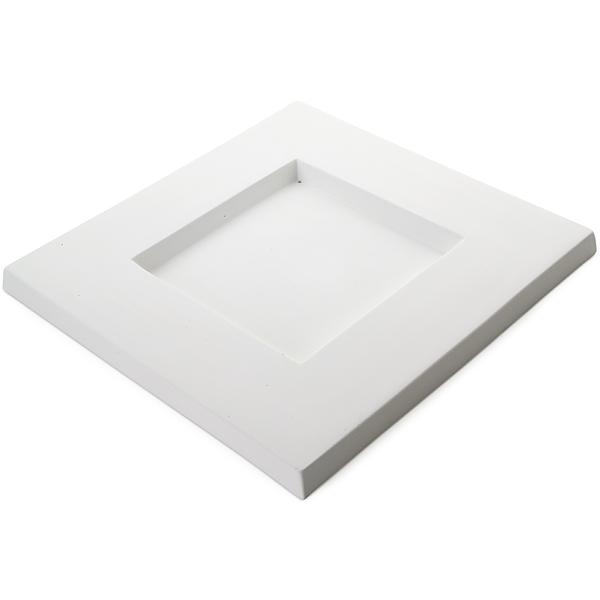 Square Platter – 30.5×30.3×2.1cm – Base: 15.2×15.2cm