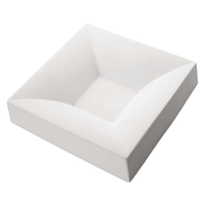 Square Bowl Simple Curve – 30.5×30.4×6.4cm – Base: 10.4cm
