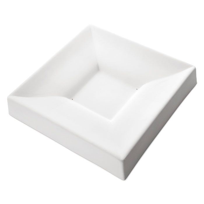 Square Bowl Double Curve – 30.1×30.1×5.4cm – Base: 10.8cm