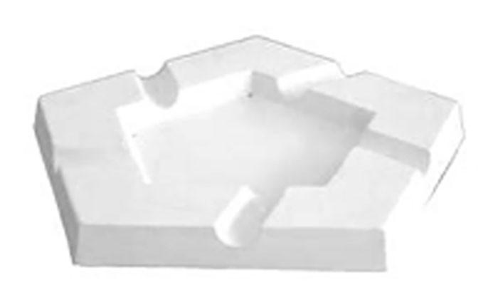 Ashtray – Penta – 25x25x2.5cm – Base: 14.4×14.4cm