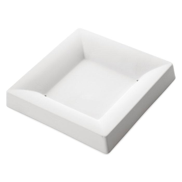 Square Plate Simple Curve – 15.8×15.9×2.4cm – Base: 8.7×8.5cm