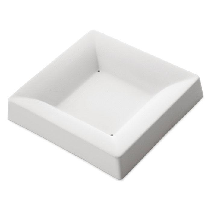 Square Plate Simple Curve – 13.4×13.2×2.5cm – Base: 6.3×6.3cm