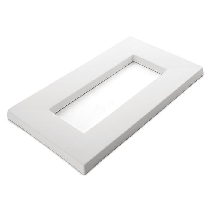 Drop Out Rectangular – 41.1×23.6×2.2cm – Opening: 28.5×10.5cm