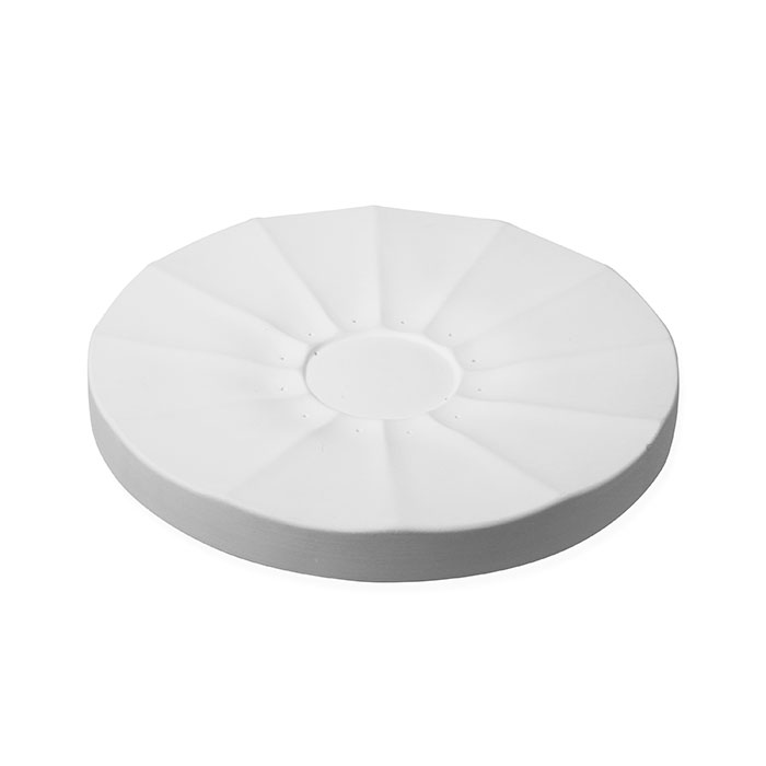 Blossom A – Fluted Plate – 35×3.5cm – Base: 9.5×0.3cm