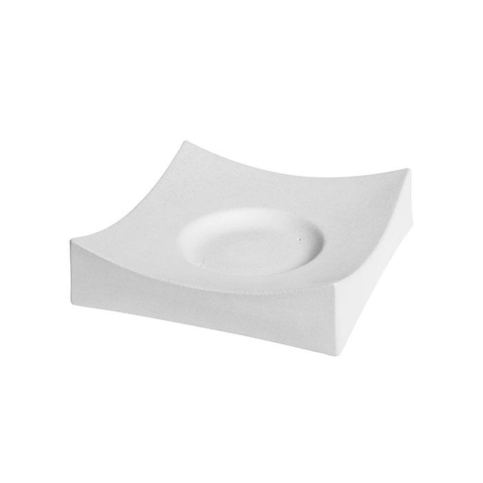 Square Slumper Circle Base – 15.3×15.1x4cm – Base: 6.2cm